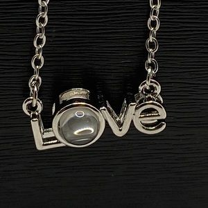 """28"""" 100 Love Languages Silver Necklace with Love Pendant"""